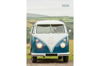 Camper Vans - 2020 Premium Diary Planner A5 Padded Cover Christmas New Year Gift