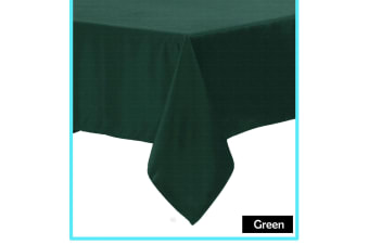 Polyester Cotton Tablecloth Green 220 cm Round
