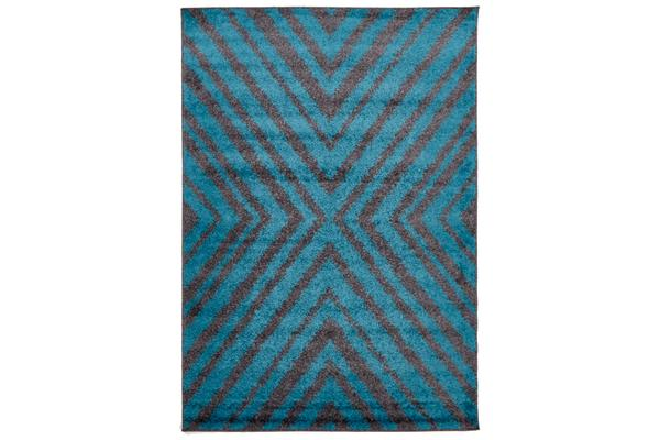 Domino Shag Rug Charcoal and Blue 290x200cm
