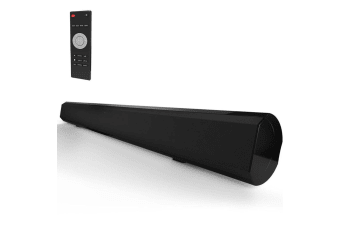 Laser HDMI Audio Soundbar Speaker w/ Optical & Wireless Bluetooth for TV Black