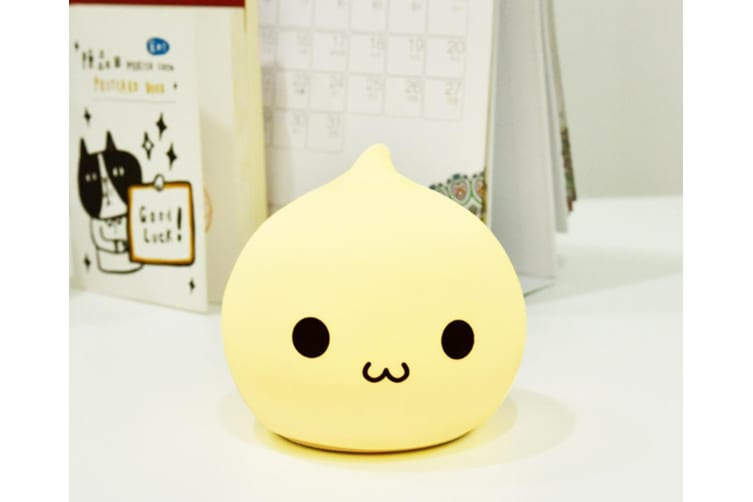 Charging Water Drop Silicone Lamp Cartoon Bedside Colorful Night Lamp - 1 White