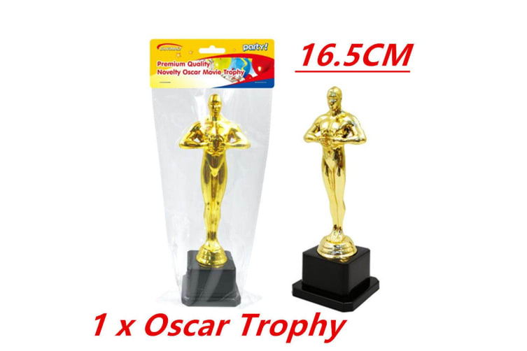 1 x Hollywood Award Gold Oscar Movie Trophy Inspired Ceremonies Party Favor VIP