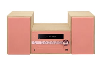 Pioneer DAB+ Micro Hi-Fi Sound System with Bluetooth Speaker - Red/Pink (CM56DR)