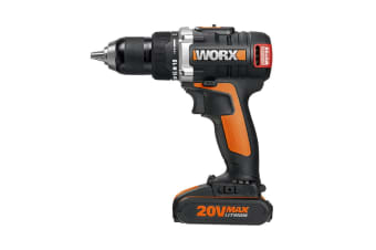 WORX 20V 13mm Brushless Drill-Driver with 2 x Batteries & Carry Case (WX175)