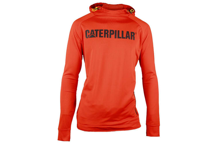 Caterpillar Mens Contour Hooded Workwear Pullover (Orange) (XL)
