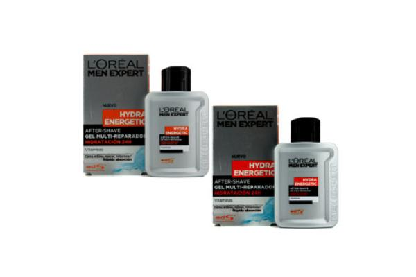 L'Oreal Men Expert Hydra Energetic After Shave Multi-Repairing 24H Hydration Gel (Duo Pack) (2x100ml/3.3oz)