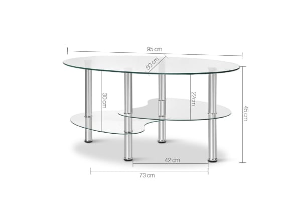 Glass Oval Coffee Table