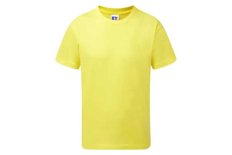 Jerzees Schoolgear Childrens/Kids Slim Fit Cotton T-Shirt (Yellow) (9-10 Years)