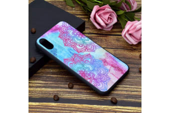 For iPhone XS Max Cover Shielding Back Shell Mobile Phone Case Mandala Flower