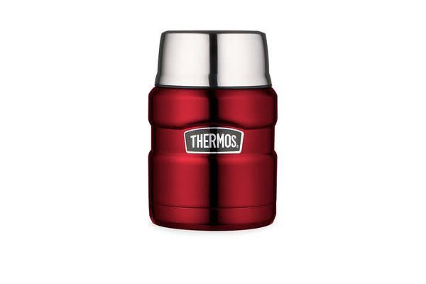 Thermos Stainless King Vacuum Insulated Food Jar 470ml Red