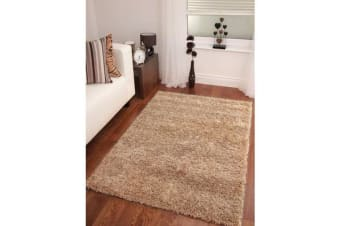 Funky Urban Shag Runner Rug - Light Beige