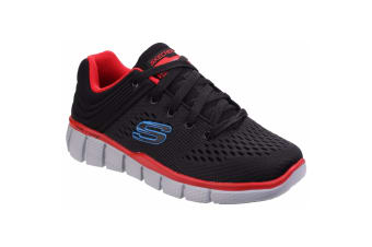 Skechers Childrens Boys Equaliser 2.0 Post Season Lace Up Trainers (Black/Red)
