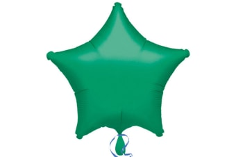 Anagram 19in Star Foil Balloon (Pack Of 10) (Green) (19in)