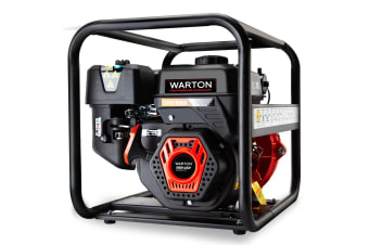 WARTON Petrol Water Pump 8HP Fire Fighting High Pressure Transfer Irrigation 4