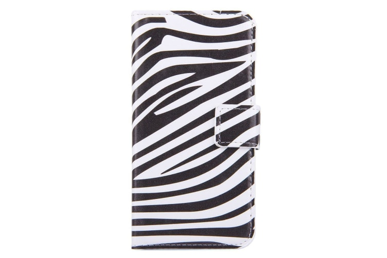 For iPhone 8 7 Wallet Case Zebra Textured Durable Protective Leather Cover