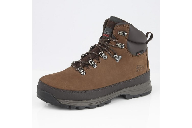 Johnscliffe Mens Edge Laced Nubuck Leather Padded Ankle Hiking Boot (Mid Brown) (9 UK)