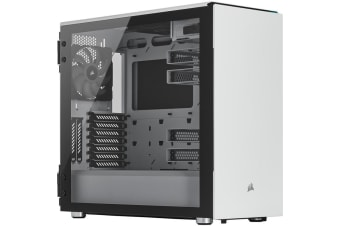 Corsair Carbide 678C LOW NOISE White Edition ATX MidTower Gaming Case Tempered Glass with CPU Cooler