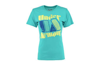 Under Armour Women's UA Graphic T-Shirt (Turquoise/Yellow, Size XS)