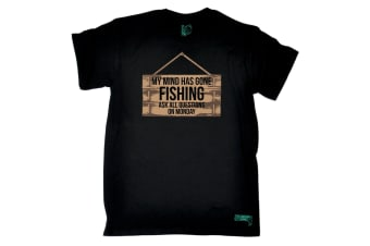 Drowning Worms Fishing Tee - My Mind Has Gone - (5X-Large Black Mens T Shirt)