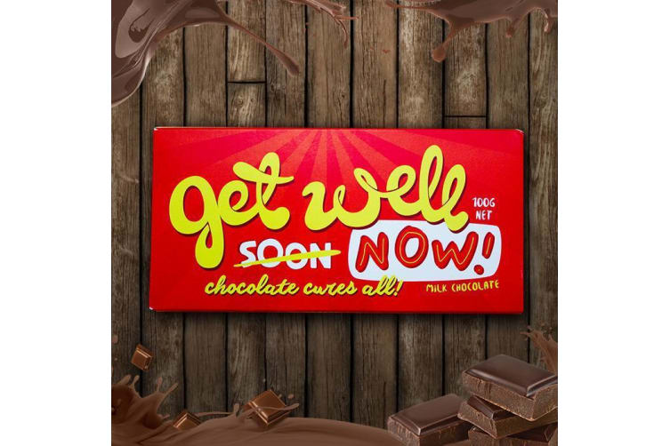 Get Well Now! Chocolate Bar – Get Well Soon Chocolate Bar