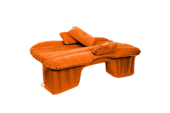 Inflatable Car Mattress Portable Travel Camping Air Bed Rest Sleeping Bed Orange
