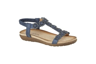 Cipriata Womens/Ladies Giovanna Sandals (Navy Blue)