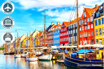EUROPE: 16 Day Norwegian Fjords Cruise with Stockholm & Copenhagen City Stay Including Flights for Two