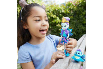 """Enchantimals 6"""" Doll - Patter Peacock Doll with Pet"""