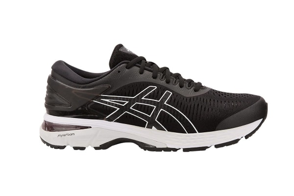 ASICS Men's Gel-Kayano 25 Running Shoe (Black/Glacier Grey, Size 14)