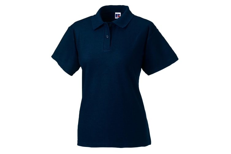 Jerzees Colours Ladies 65/35 Hard Wearing Pique Short Sleeve Polo Shirt (French Navy) (L)
