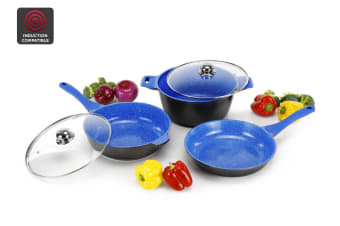 Ovela 5 Piece BlueStone Non-Stick Induction Cookware Set