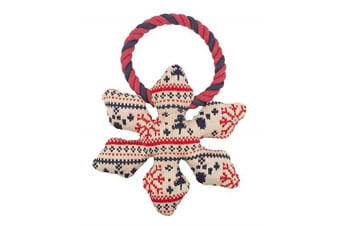 Pet Brands Christmas Snowflake Dog Chew Toy (Multicoloured)