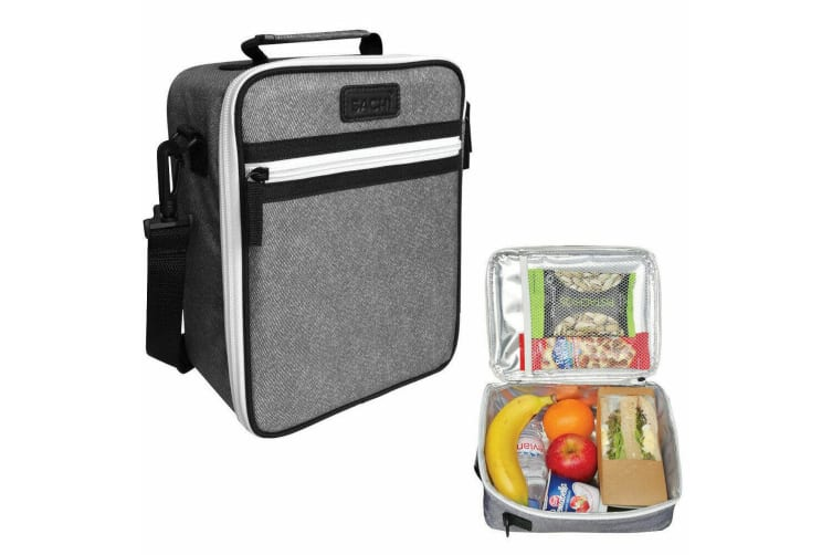 Sachi Thermal Insulated Junior Picnic Lunch Tote Carry Case Storage Bag Charcoal