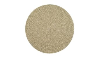 Casa Regalo Round Placemat 38cm Natural & White