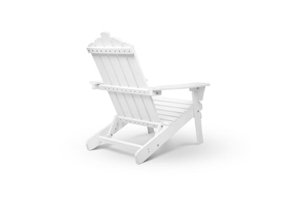 Adirondack Foldable Deck Chair (White)