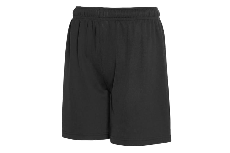 Fruit Of The Loom Childrens/Kids Moisture Wicking Performance Shorts (Black) (7-8 Years)