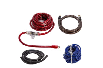 DNA 2 CHANNEL 4 GUAGE GA POWER AMPLIFIER AMP WIRING KIT FOR CAR AUDIO CABLE