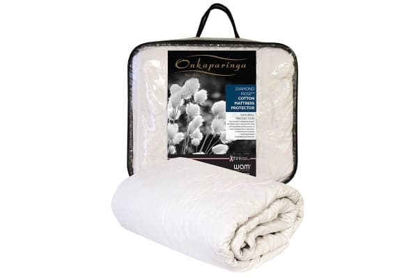 Onkaparinga Diamond Rose Cotton Mattress Protector (Queen)