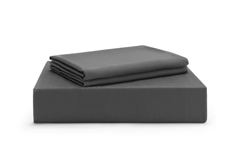 Ovela 100% Tencel™ Bed Sheet Set (Double, Charcoal)