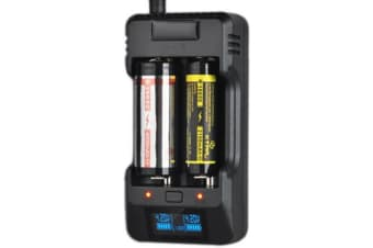 2 Cell Li-Ion Charger With LCD Display Battery-Bank