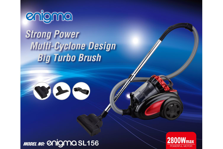 Enigma Multi Cyclonic 2800W Bagless Vacuum Cleaner with Turbo nozzle Pet Animal Hair solution
