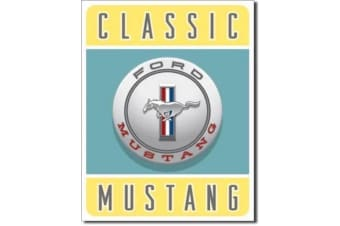 """Ford """"Classic Mustang"""" Retro Tin Sign"""