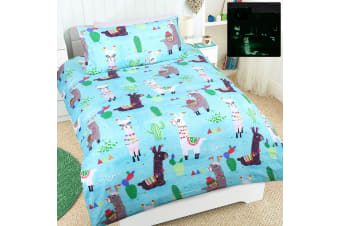 Glow in the Dark Lulu Quilt Cover Set by Happy Kids