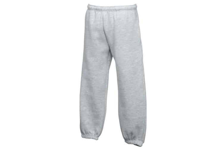 Fruit Of The Loom Kids Unisex Premium 70/30 Jog Pants / Jogging Bottoms (Pack of 2) (Heather Grey) (9-11)