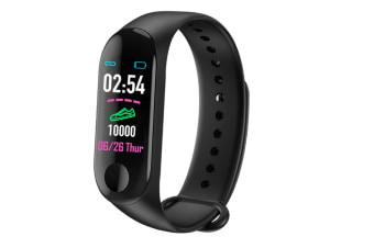 Smart Band Wristband IP67 Waterproof Sleep Heart Rate Monitor Compatible with Compatible System Android/Ios-Black