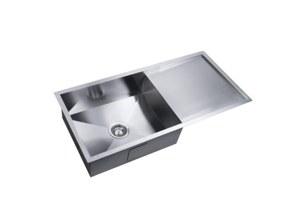 Stainless Steel Kitchen/Laundry Sink with Strainer Waste 960x450mm