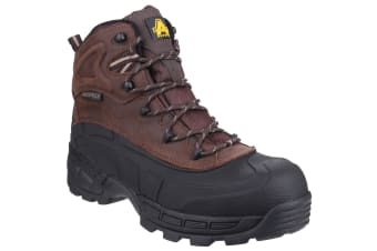 Amblers Mens FS430 Orca S3 Waterproof Leather Safety Boots (Brown)