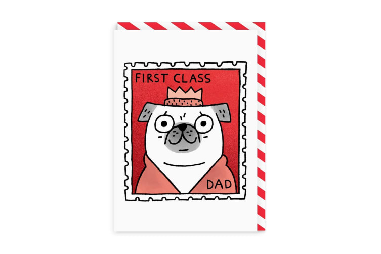 Ohh Deer First Class Dad Greeting Card (Multicoloured) (One Size)