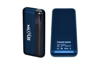 Maxxlee 16000 mAh Power bank Battery Charger Mobile Portable USB iPhone iPad Fast Charge BLUE Elinz