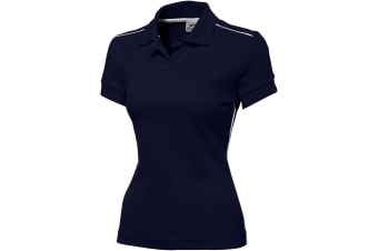 Slazenger Backhand Short Sleeve Ladies Polo (Navy) (M)